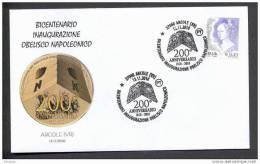 063 ITALY ITALIA 2010. SPECIAL POSTMARK. BICENTENNIAL INAUGURATION NAPOLEONIC OBELISK. Arcole - Napoleon