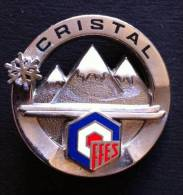 INSIGNE - CRISTAL - SKI FFES - SKI ECOLE INTERNATIONAL - Diamètre 36 Mm - Sports D'hiver