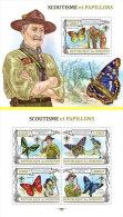 BURUNDI 2013 MNH** M/S + S/S Scouts & Butterflies Pfadfinder & Schmetterlinge A1350 - Scouting