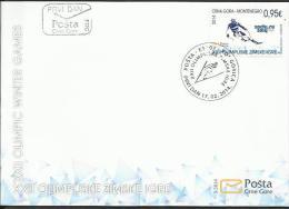 CG 2014-345 OLYMPIC GAMES SOCI, CRNA GORA MONTENEGRO, FDC - Montenegro