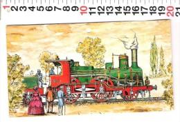 C 1 CALENDARIO PIEGHEVOLE TRENO - Calendari