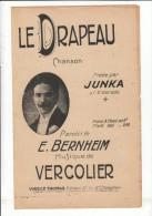 LE DRAPEAU JUNKA BERNHEIM VERCOLIER VIRGILE THOMAS  ** VINTAGE MUSIC SHEET ** OUDE PARTITUUR - Partitions Musicales Anciennes