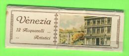 LOT DE 12 CARTES - VENEZIA 12 ACQUARELLI ARTISTICI - DIMENSIOIN 5X14 Cm