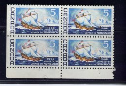 CANADA, 1968, USED #  482, 300TH  Of  The   VOYAGE Of The NONSUCH, Voilier,   USED - Blocs-feuillets
