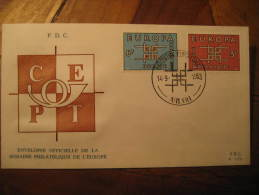 Arlon 1963 EUROPA Europe CEPT Fdc Cover Belgium Belgie Belgique - Europa-CEPT