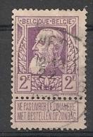 """Belgique - Timbre COB N° 80 - Roi Léopold II Type """"grosse Barbe"""" - Oblitéré - Catalogue : 25 € à 20 % - 1905 Grosse Barbe"""