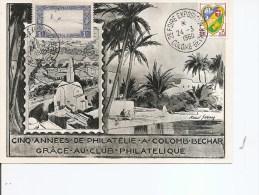 Expositions Philatéliques -Colomb-Béchar ( Carte Commémorative Mixte France-Algérie De 1960 à Voir) - Philatelic Exhibitions