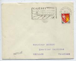"""Flamme-1965--CAZERES SUR GARONNE -31--Climat-Santé-Vacances (pont) -- Sur Lettre Entière """"IMPRIME""""- - Mechanical Postmarks (Advertisement)"""