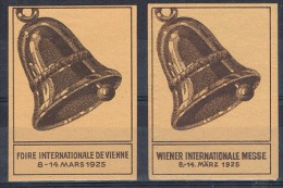 2 Vignettes: Foire Internationale De Vienne / Wiener Internationale Messe - Mars 1925 - Cloche - Cinderellas