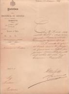1-Vecchi Documenti-1892-Decreto Nomina Sindaco- Pedara-Catania-Sicilia - Non Classificati