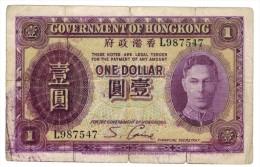 , HONG KONG , 1 Dollar 1936, G. - Hong Kong