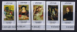 Yémen Du Nord 1966  Tableaux De Maître Flamands Bruegel, Orley, Rubens, Jordaens, Van Dyck  Non Dentelés  * MH - Yemen
