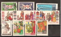 Russie  URSS 19621963  / Lot  Vrac De 12  Timbres Oblitérés Avec 2 Séries Completes 2617/2618 Et 2621/2625 - Oblitérés