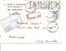 Belgique ( Lettre En Recommandé De 1975 De Flawinne Vers Bruxelles à Voir) - Bélgica
