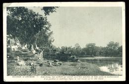 Cpa Du Cambodge  Ruines D' Angkor Srah Srang Lac Artificiel Bain Royal  BOR9