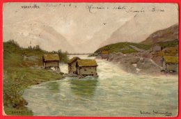 [DC6266] NORVEGIA - NORDFJORD - FIRMATA ERNET J. F. - Viaggiata - Old Postcard - Norvegia