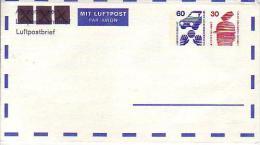 B PF  PF 1/2  Luftpostbrief 60+30 Pf Unfallverhütung - Sobres Privados - Nuevos