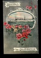 TH BATEAUX USS Washington, Greetings From California, Marine Militaire Américaine, Ed Fanjoy, 191? *** SPECIMEN *** - Krieg