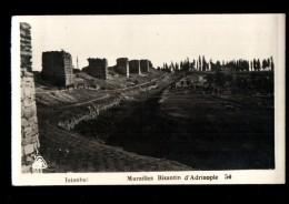 TURQUIE Istanbul, Murailles Byzantin D'Adrinople, Ruines, Ed ? 207418, CPSM 9x14, 193? - Turchia