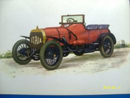 CARTOLINA MACCHINE D'EPOCA  GRAND PRIX ITALIA  1908 (ORIGINALE  RIPRODUZIONE  VIETATA) - Oldtimers