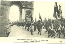 75 CPA Paris Fetes De La Victoire 1919 Lot 3 Cartes Defiles Troupe Belgique Ecosse USA Army Militaria 1914 1918 - Manifestazioni