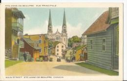 CPA - Sainte Anne De Beaupré - Rue Principale - Main Street - Ste. Anne De Beaupré