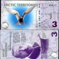 ARCTIC TERRITORIES 3 D 2011 POLAR POLYMER UNC - Banconote