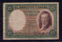 BILLETE DE 25 PESETAS DE 1931 - USADO - [ 2] 1931-1936 : Republiek