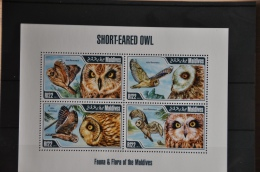 N 099 ++ MALDIVES 2013 BIRDS OISEAUX VOGELS OWL UIL MNH NEUF ** - Maldiven (1965-...)