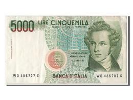 Italie, 5000 Lire Type Bellini - [ 2] 1946-… : République