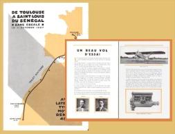 AVIATION - AEROPOSTALE - Toulouse-St Louis Sénégal Sans Escale - Mermoz - Latécoère 26 - Publicités