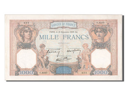 1000 Francs Cérès Et Mercure Type 1927 Modifié - ...-1889 Anciens Francs Circulés Au XIXème