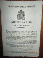 1856 GOVERNO PONTIFICIO PAPA PIO IX   MANIFESTO (30X40)  PER LA FIERA DI FERMO - Affiches