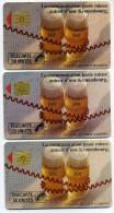 Lot 3 Télécartes Usagées Kronenbourg Dont 50 Unites Gde Flèche Gem 1B (lot 15) - Télécartes