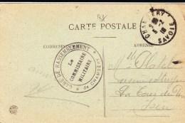 1918 - SAVOIE - OBLITERATION De COMMISSION De GARE De CHAMBERY Sur CARTE POSTALE - Marcophilie (Lettres)