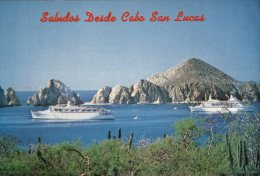 (PH 4) RTS - DLO Postcard Posted From Mexico To Australia - Cruise Ship In Cabo San Lucas - Dampfer