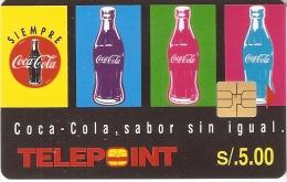 TARJETA DE PERU DE COCA-COLA DE TELEPOINT (COKE)  NUEVA-MINT - Publicidad