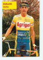 Jacky DURAND, Autographe Manuscrit, Dédicace.  2 Scans. Equipe Agrigel 1996 - Cyclisme
