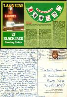 Blackjack, Frontier Casino, Las Vegas, Nevada, United States US Postcard Posted 1983 Stamp - Las Vegas