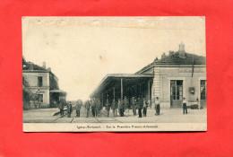 IGNEY AVRICOURT  1910   INTERIEUR DE LA GARE SUR LA FRONTIERE    CIRC  NON   EDIT - France