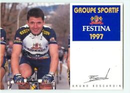 Bruno BOSCARDIN . 2 Scans. Gs FESTINA 1997 - Cycling