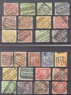 België/Belgique Samenstelling/composition Van De Reeks/de Serie TR/SP/CF 100-126. Gestempeld/oblitéré. Zie/voir Scan. - 1915-1921