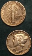 M_p> Stati Uniti One Dime ( Un Decimo ) 1942 In Argento 900/ooo - 1916-1945: Mercury (Mercurio)