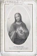 IMAGE PIEUSE A DENTELLE JESUS-CHRIST SACRE-COEUR PAR CH. LETAILLE SANTINI CANIVET RELIGION SANTINO - Images Religieuses