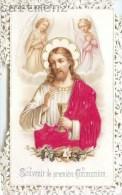 IMAGE PIEUSE GAUFREE A DENTELLES JESUS-CHRIST PREMIERE COMMUNION SANTINI CANIVET RELIGION SANTINO - Images Religieuses