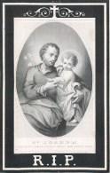 FAIRE-PARTS IMAGE PIEUSE AVIS DE DECES JOLANDA HERMANN AUGSBURG R.I.P. SAINT-JOSEPH RELIGION - Andachtsbilder