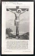 FAIRE-PARTS IMAGE PIEUSE AVIS DE DECES MADAME FROYE A BREMES PAR CH. LETAILLE RELIGION JESUS-CHRIST - Images Religieuses