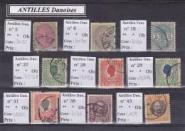 ANTILLES DANOISES - COLLECTION OBLITERES - COTE YVERT = 165 EURO - Dänemark (Antillen)