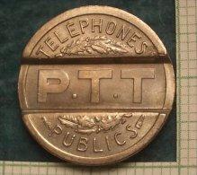 M_p> Francia Gettone Telefonico 1937 ALTA CONSERVAZIONE - Monetari / Di Necessità