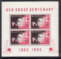 Nigeria MH Scott #149a Souvenir Sheet Of 4 1sh3p Helping The Needy - Centenary Of Red Cross - Nigeria (1961-...)